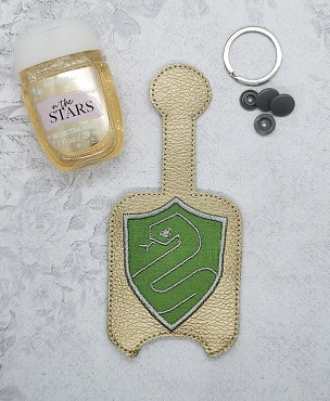 Slitherin Applique Hand Sanitizer Embroidery Design