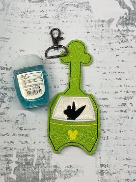 Tinkerbell Skyliner Hand Sanitizer Embroidery Design