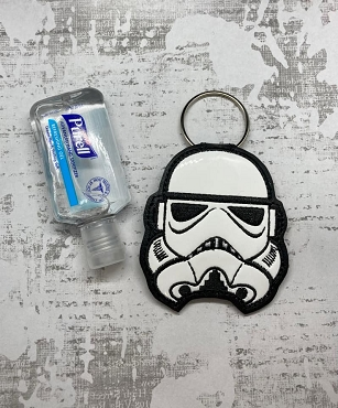Storm Trooper Hand Sanitizer Embroidery Design