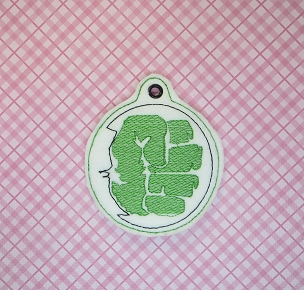 Green Mean Man Ornament Embroidery Design