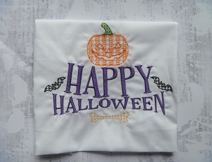Happy Halloween Sketchy In the Hoop Embroidery Design