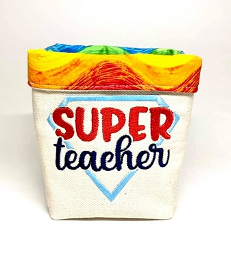 Super Teacher In the Hoop Embroidery Design (4x4)