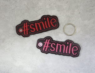 #SMILE Keyfob Embroidery Design