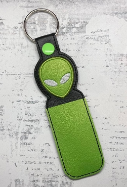 Alien Face Lip Balm Holder Embroidery Design