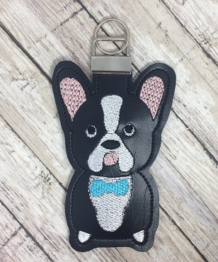 Dog Sitting Lip Balm Holder Embroidery Design (2 sizes)