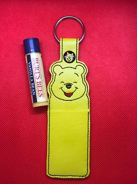 Smiling Pooh Lip Balm Holder Embroidery Design