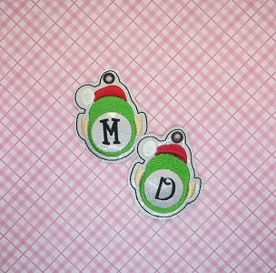 Monogrammed Elf Charm Embroidery Design