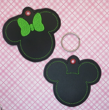MR AND MRS MOUSE BLANK ORNAMENTS EMBROIDERY DESIGN