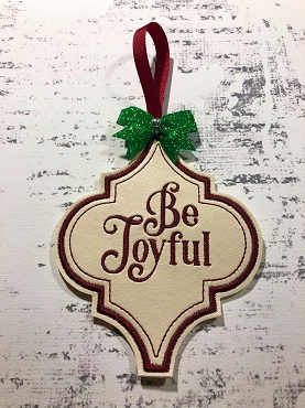 Be Joyful Ornament Embroidery Design