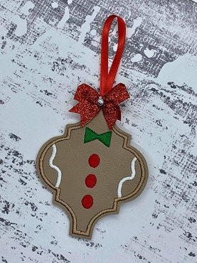 Gingerbread Fancy Ornament Embroidery Design