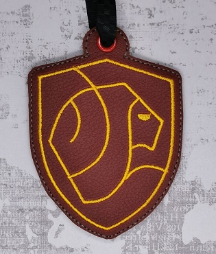 Gryffindor House Ornament Embroidery Design