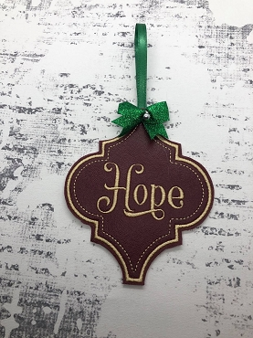 Hope Fancy Ornament Embroidery Design