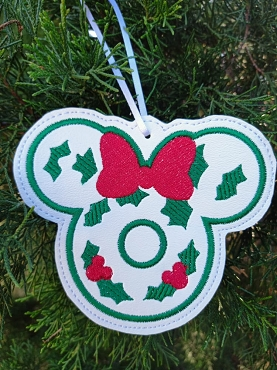 Mrs Mistletoe Ornament Embroidery Design