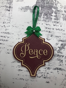 Peace Fancy Ornament Embroidery Design
