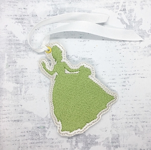 Tiana Silhouette Ornament / Bookmark Embroidery Design