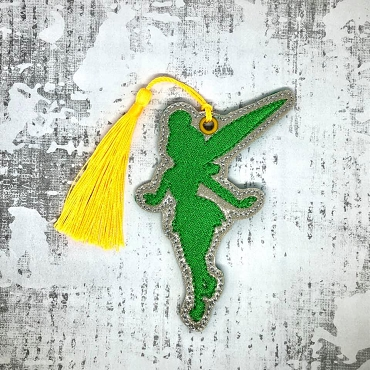 Tinkerbell Silhouette Ornament / Bookmark Embroidery Design