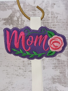 Mom with Flower Planner Band Embroidery Design