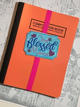 One Blessed Momma Planner Band Embroidery Design