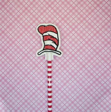 Dr Suess Pencil Topper Embroidery Design