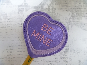 Be Mine Heart Pencil Topper Embroidery Design