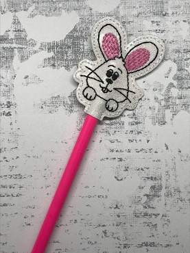 Bunny Face Pencil Topper Embroidery Design