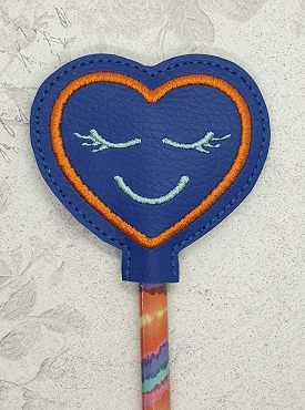 Closed Eye Pencil Topper Heart Embroidery Design