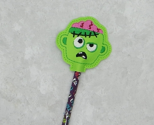 Zombie Brains Pencil Topper Embroidery Design