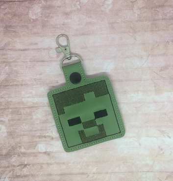 Zombie MC Snaptab / Keyfob Embroidery Design
