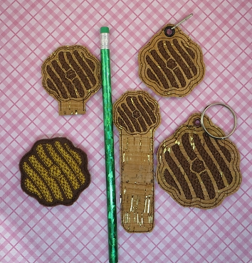 Crisp, Coconut Cookie Set Embroidery Design