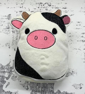 Cow Squishie Embroidery Design (6x10)