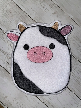 Squishie Cow Embroidery Design (9x14)