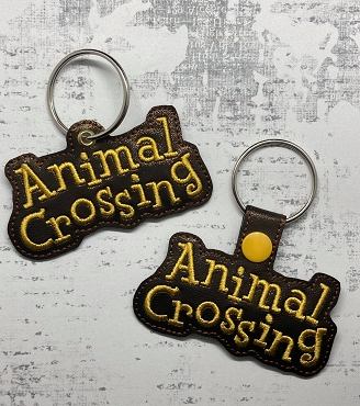 Animal Crossing Logo Snaptab / Keyfob Embroidery Design