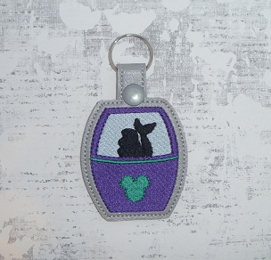 Mermaid Skyliner Snaptab / Keyfob Embroidery Design