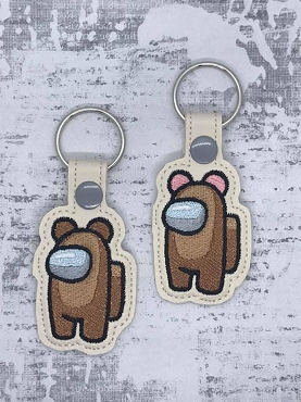 Bear Crewmate Snaptab / Keyfob Embroidery Design