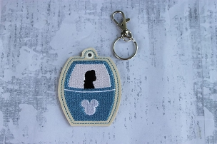 Belle Skyliner Snaptab / Keyfob Embroidery Design