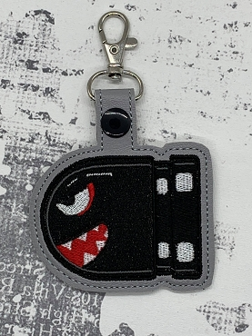 Bullet Bill Snaptab / Keyfob Embroidery Design