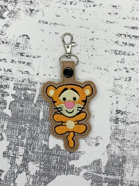 Bouncing Tigger Body Snaptab / Keyfob Embroidery Design