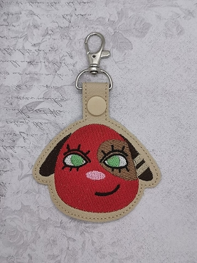 Cherry from Animal Crossing Snaptab / Keyfob Embroidery Design