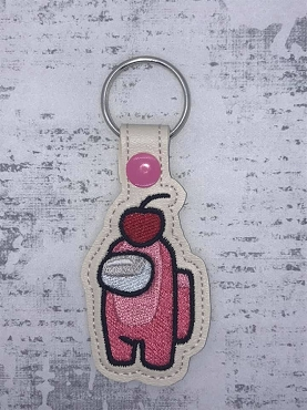 Cherry Crewmate Snaptab / Keyfob Embroidery Design