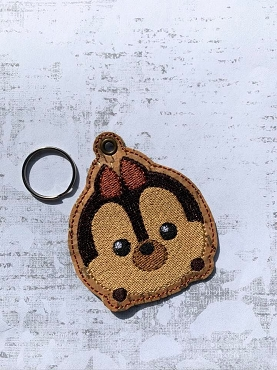 Chip Tsum Tsum Filled Snaptab / Keyfob Embroidery Design