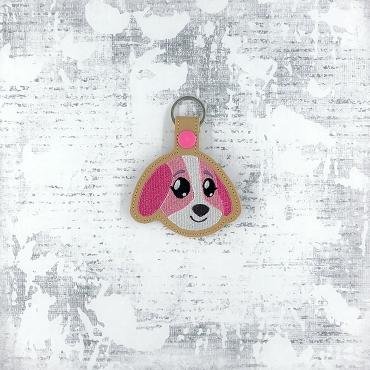 Cookie Animal Crossing Snaptab / Keyfob Embroidery Design