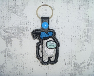 Mr Duck Crewmate Snaptab / Keyfob Embroidery Design