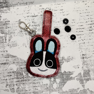 Dotty from Animal Crossing Snaptab / Keyfob Embroidery Desgin