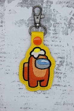 Egg Among Us Snaptab / Keyfob Embroidery Design