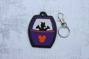Figment Skyliner Snaptab / Keyfob Embroidery Design