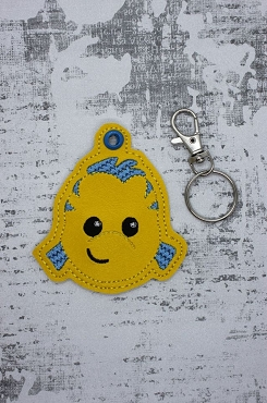 Guppy  Snaptab / Keyfob Embroidery Design