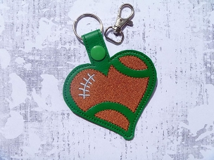 Football Love Snaptab / Keyfob Embroidery Design