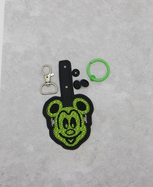 Mouse Waffle Sketchy Snaptab / Keyfob Embroidery Design