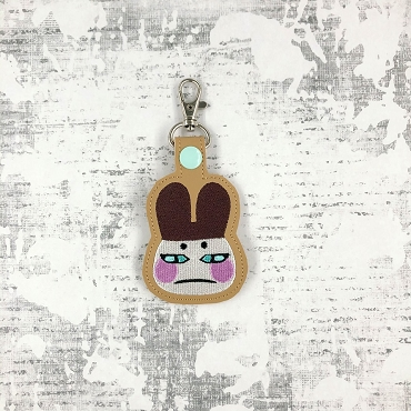 Genji Animal Crossing Snaptab / Keyfob Embroidery Design