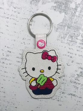 Hello Kitty Popcycle Snaptab / Keyfob Embroidery Design